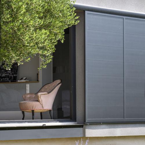 volet coulissant / en aluminium / pour façade / à coupure thermique