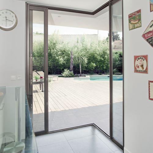 baie vitrée coulissante / en aluminium / à triple vitrage / à double vitrage