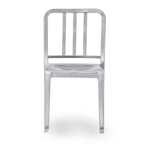 chaise contemporaine / empilable / à bascule / en aluminium