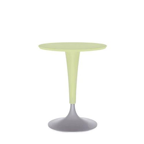 table bistrot contemporaine / en fonte d'aluminium / en polypropylène / ronde