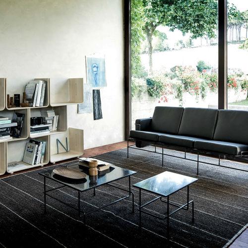 table basse contemporaine / en acier / en acrylique / rectangulaire