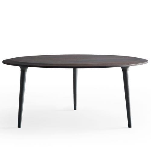 table basse contemporaine / en bois / en marbre / ronde