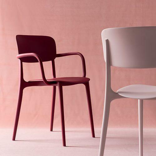 chaise contemporaine / avec accoudoirs / en polypropylène / d'extérieur