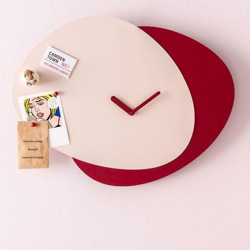 horloge contemporaine / analogique / murale / en métal