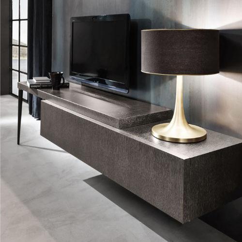 meuble TV contemporain / en chêne