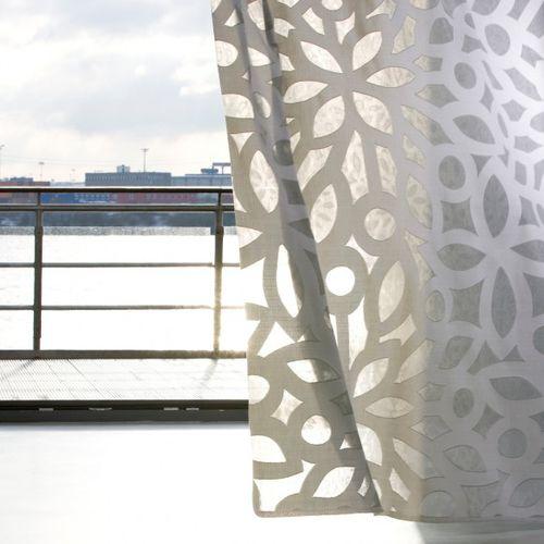 voilage à fleurs / en coton / en polyester / organique