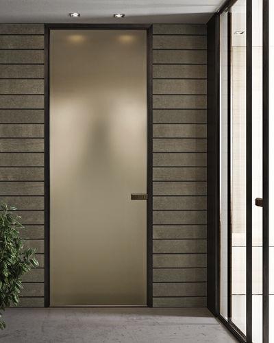 porte vitrée / d'intérieure / battante / en aluminium