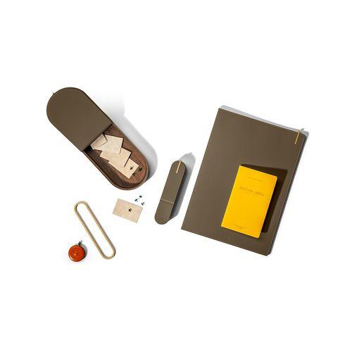 boîte de rangement en cuir