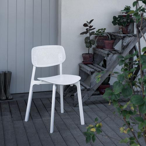 chaise contemporaine / empilable / aluminium / en polypropylène