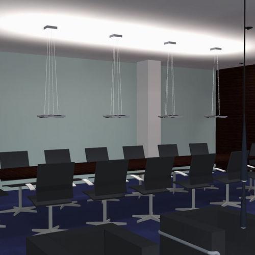 luminaire suspendu / à LED / carré / en aluminium