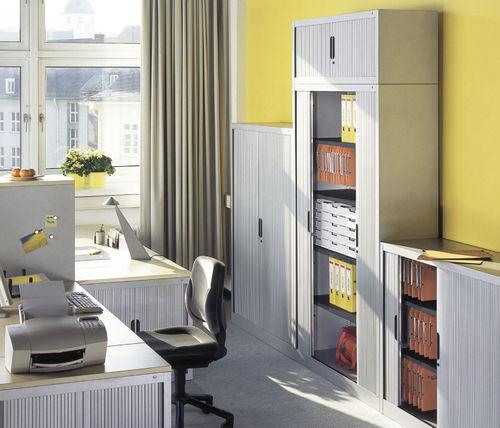 armoire de classement basse / haute / en acier / avec porte coulissante