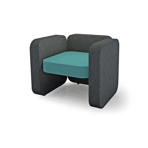 fauteuil contemporain / en tissu / pour établissement public
