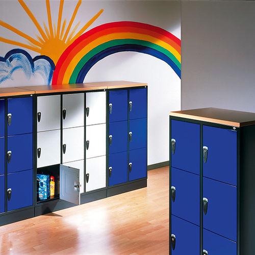 casier vestiaire en acier / pour établissement public / pour école