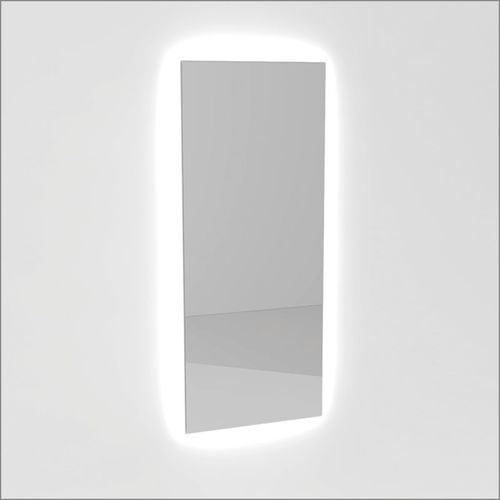 miroir mural / lumineux (LED) / contemporain / rectangulaire