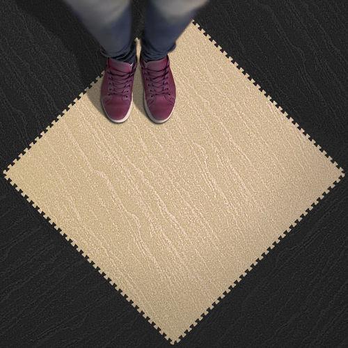 revêtement de sol en caoutchouc / pour installation sportive / en dalles / texturé