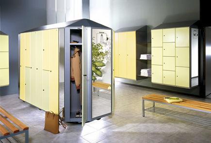 casier vestiaire en métal / sécurisé