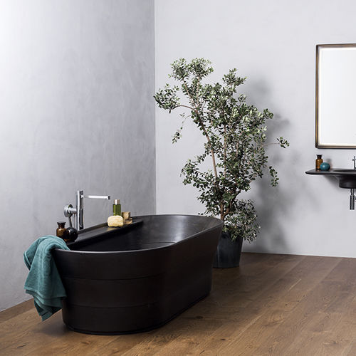 baignoire à poser / ovale / en pierre naturelle