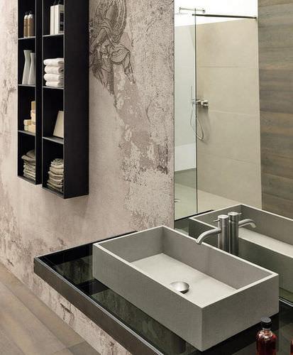 meuble colonne de salle de bain / contemporain