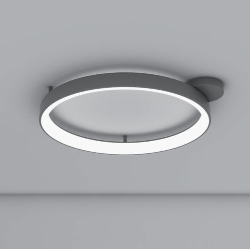 plafonnier design original / rond / en aluminium peint / en méthacrylate