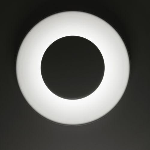 applique murale contemporaine / en aluminium peint / à LED / ronde