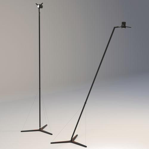 lampe sur pied / contemporaine / en aluminium / dimmable