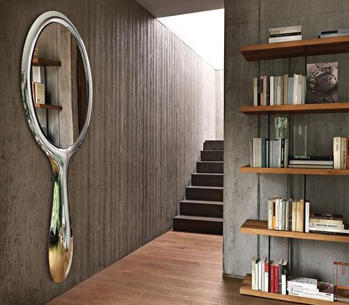 miroir mural / contemporain / ovale / en métal