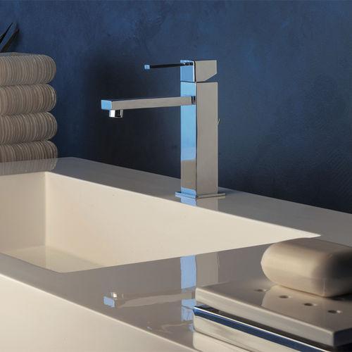 mitigeur pour vasque / en métal chromé / en acier / mécanique