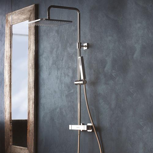 set de douche mural / contemporain / avec douche à main / thermostatique