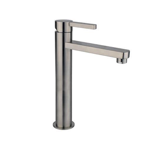 mitigeur pour vasque / en inox / 1 trou / modèle haut
