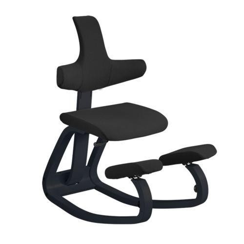 chaise de travail en tissu / tapissée / ergonomique assis-genoux