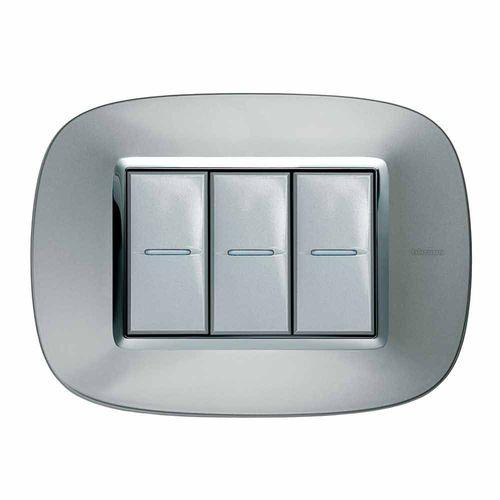 interrupteur bouton poussoir / triple / en inox / en cuir