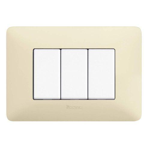 interrupteur à bouton poussoir / économiseur d'énergie / encastré / triple