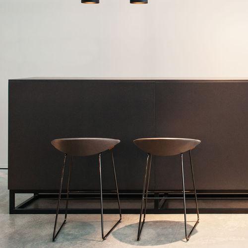 tabouret de bar contemporain / en cuir / en tissu / contract