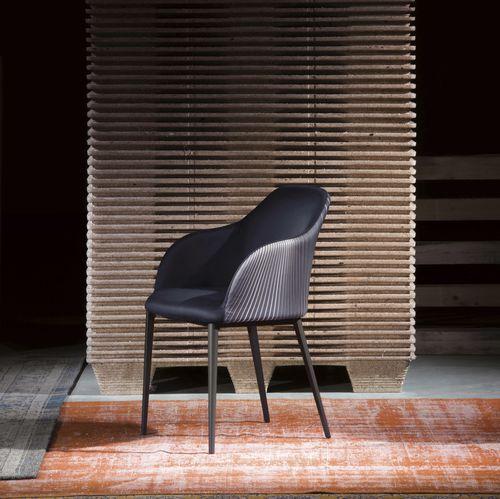 chaise contemporaine / avec accoudoirs / en tissu