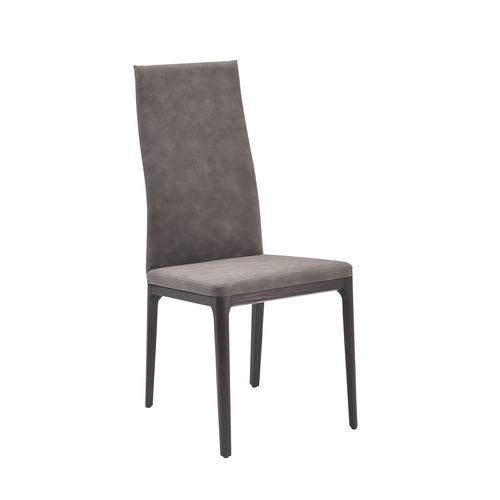 chaise contemporaine / tapissée / ergonomique / avec dossier haut