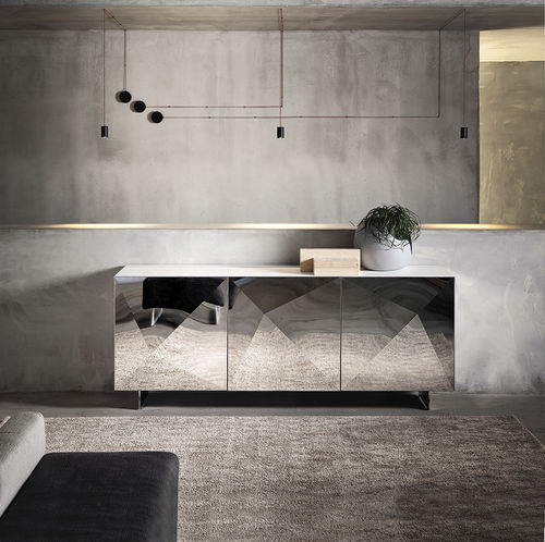 buffet contemporain / en bois / en acier