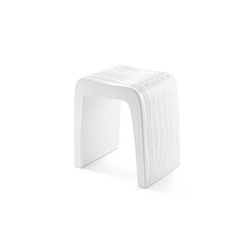 tabouret de douche en plastique / professionnel / blanc
