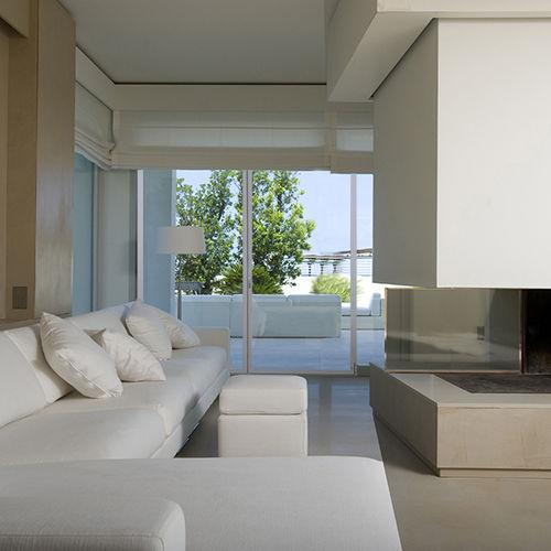 baie vitrée battante / en aluminium / à triple vitrage / à isolation thermique