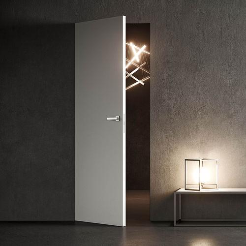 porte d'intérieure / battante / en bois / en aluminium