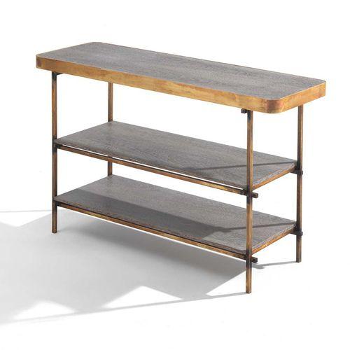 étagère contemporaine / en bois / en métal / en marbre
