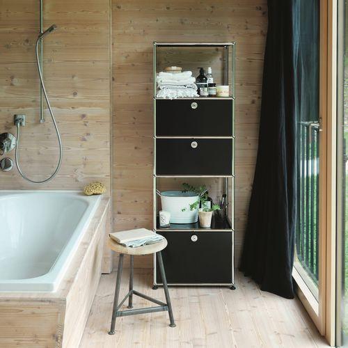 étagère contemporaine / en MDF laqué / de salle de bain