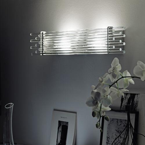 applique murale design original / en métal / en verre / halogène