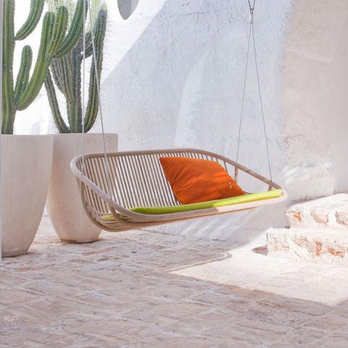 balancelle de jardin en inox / en bois / en polyester / suspendue
