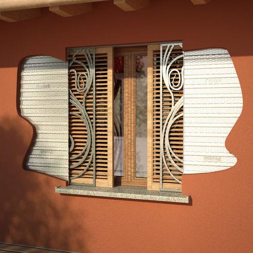 volet à galandage / en bois / pour fenêtre