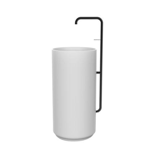 mitigeur pour vasque / à encastrer / en métal / d'extérieur