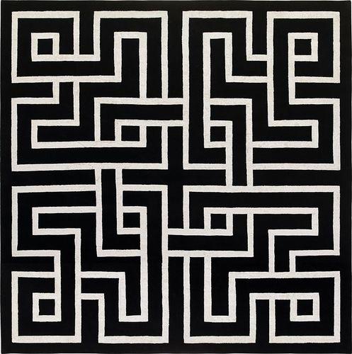 tapis contemporain / à motif / rectangulaire / sur mesure