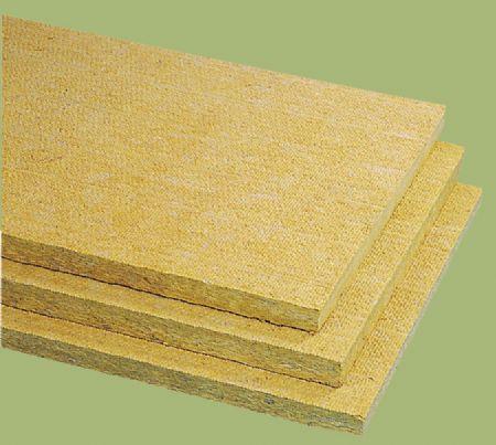 isolant thermo-acoustique / en laine de roche / pour toiture-terrasse / en panneaux rigides