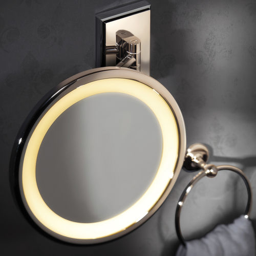 miroir de salle de bain mural / lumineux / grossissant / contemporain