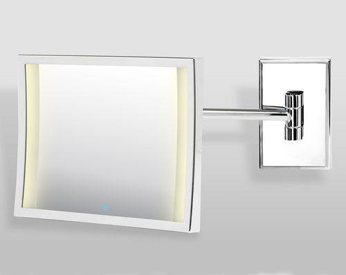 miroir de salle de bain mural / lumineux (LED) / grossissant / contemporain