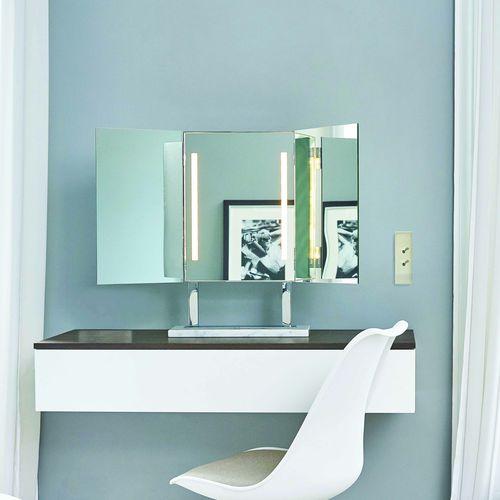 miroir de salle de bain à poser / lumineux / design original / rectangulaire